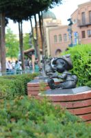 statue in front Art of Disney Animation by Edwardlefou