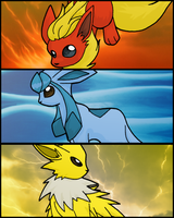 Eeveelutions by Flarey