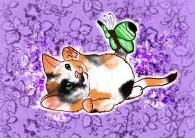 CalDraw 2012 - Butterfly Kitten by Ski-0