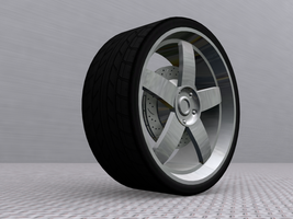 5 Spoke Rim, Render 1 by Picolini