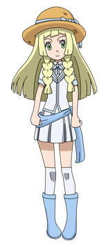 PKMN Fan artwork - Lillie's 20 anniversary Outfit by Aquamimi123