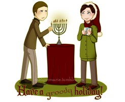 Cherik: Groovy Holiday Card by RaelynnMarie
