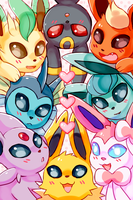 Eeveelution phone BG by Amphany