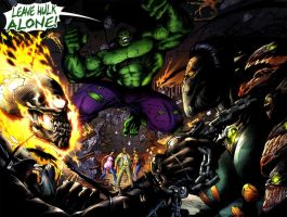 THE DARKNESS VS THE GHOST RIDER VS THE HULK by CRYPTID-MAN