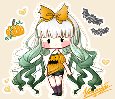 Halloween Adoptable: Pumpkin [CLOSED] by Kawaiishi