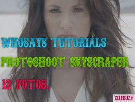 Photoshoot Demi Lovato Skyscraper by whosaystutorials