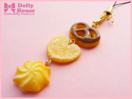 Kawaii strap - Butter Cookies - by Dolly House by SweetDollyHouse