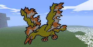 Minecraft- Moltres by aprilgoddess
