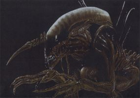 alien drawing by JonMckenzie