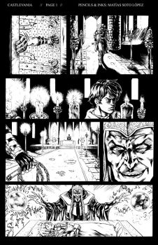 Castlevania Sample Page1 inks by MatiasSoto