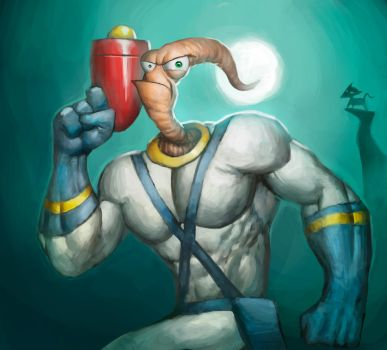 Earthworm Jim by TheRedOmega