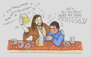 Qui-Gon and Jango Get Drunk by Allison-beriyani