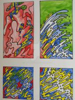 Four Panels...Four Explosions Of Colour by Brett-O-D