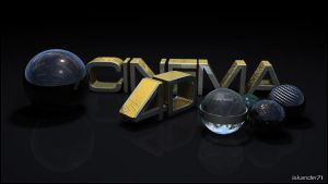 Gold cCinema 4D by iskander71
