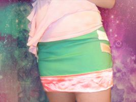 retro space invader skirt by ruby-misted-eyes