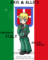 WWII Butters Stotch Italy by SouthParkPhilosopher