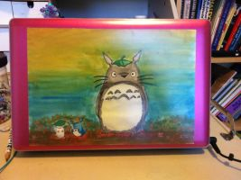 My Laptop Cover Totoro by FairyBlueSoul