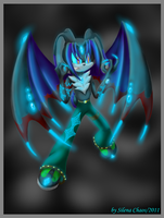Orion the Demonic rabbit by Silena-Chaos