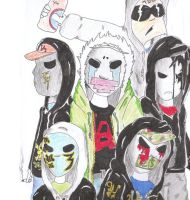 hollywood Undead drawing by xRUCKUSx