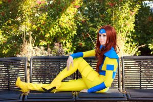 Jean Grey 90s Cosplay: Relax by firecloak