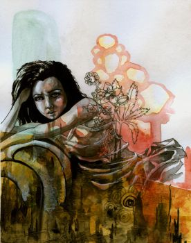 Amy Lee's Bed of Flowers by manfishinc
