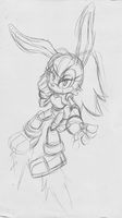 Redesigned Bunnie Sketch by E-122-Psi