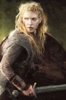 Lagertha speed painting by KrasnyNieJasny