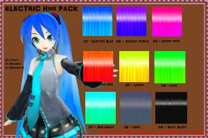 MMD TX: Electric Hair DL by Purple-RageMMD