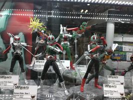 Showa Rider Figuarts Showcase at NYCC 2012 by DestinyDecade