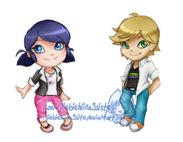 Mircaluous Ladybug: Marinette and Adrien by liliebiehlina3siste