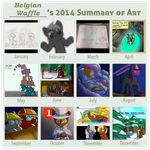 2014 Summary of Art by BelgianWaffleArt
