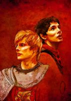 Arthur+Merlin - Kolnidur by none-of-the-sort