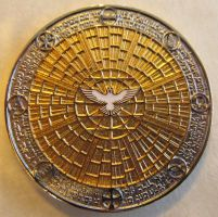 Lord's Prayer Coin - Golden Bowl Edition - Front by ce-e-vel