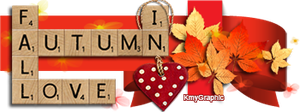 Scrabble Love in Autumn by KmyGraphic