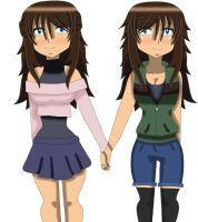 Twins Selene and Seanna by Vampire-Krauss