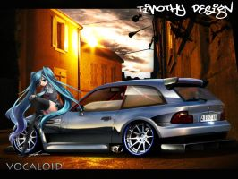 BMW M Coupe Hatsune Miku by Adry53