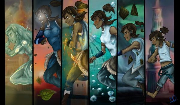 Korra's Growth by SpilarBlue