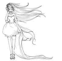 Dress lineart by AkatsukiFan1