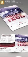 Break-Free-Church-Bulletin-Template-Image-Preview- by loswl