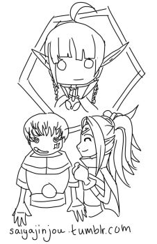 Kellam, Nowi and Nah Fire emblem by ssjgirl