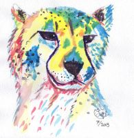 Cheetah Watercolor. by cheetah-spotts
