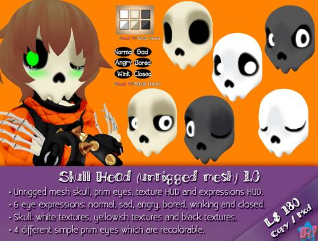 *R!* Skull Head (unrigged mesh) 1.0 by Cari-Rez-Lobo