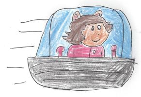 Jane Read (Arthur's Mom) in a spaceship by dth1971