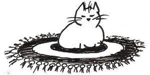 Maru on A Rug by Delude