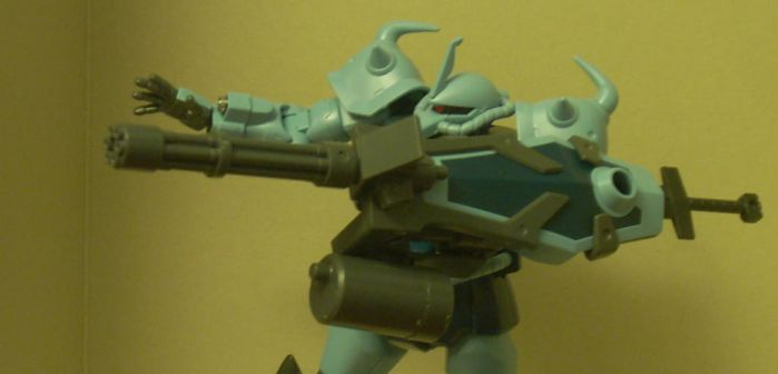 Gouf Custom Attack, Profile View by NihonFreakMB
