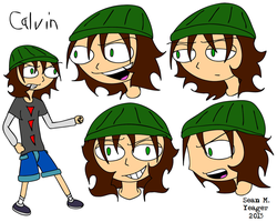 Calvin - ref sheet by Sean-M-Yeager