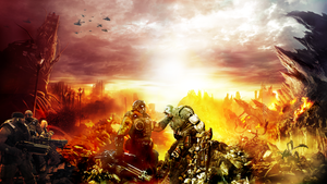 Gears 3 wallpaper for contest by dante2710
