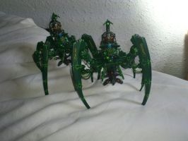 Necron Triarch Stalkers by Danhte