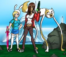 Fionna, Cake, and Pistol by Chill8ter