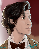 The Eleventh Doctor by fluffpuffgerbil